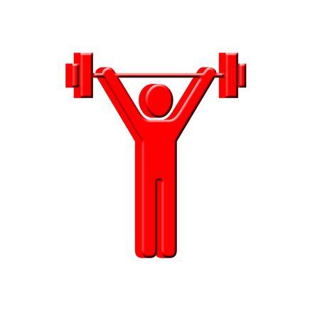 3D Weightlifter Imagens - 12165234