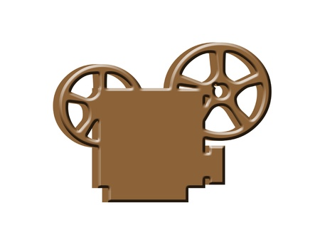3D Movie projector icon photo