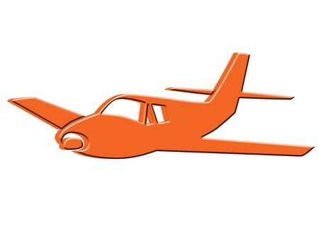 artistic designed: 3D Plane icon Stock Photo