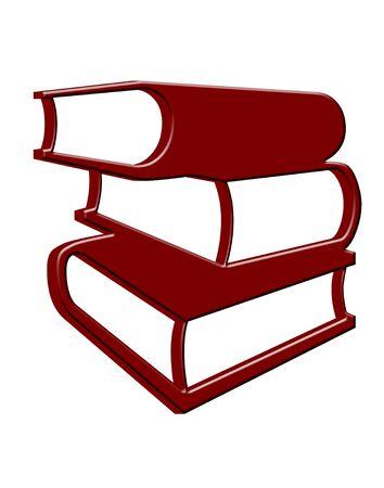 3D gestapelde boeken