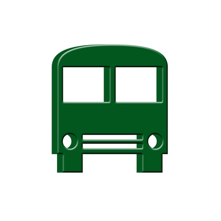 3D Bus icon photo