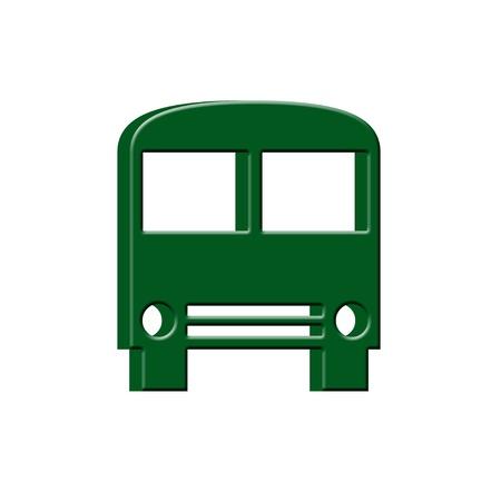 artistic designed: 3D Bus icon
