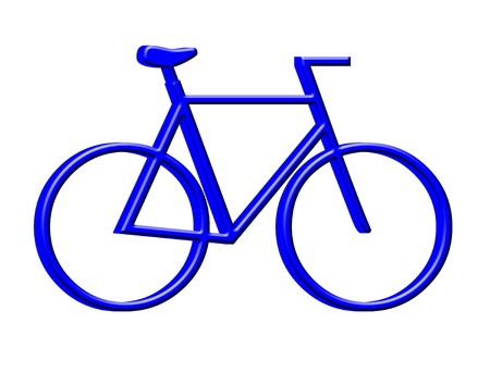3D Bicycle icon Stock Photo - 12456430
