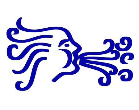 3 D の吹く風のイラスト