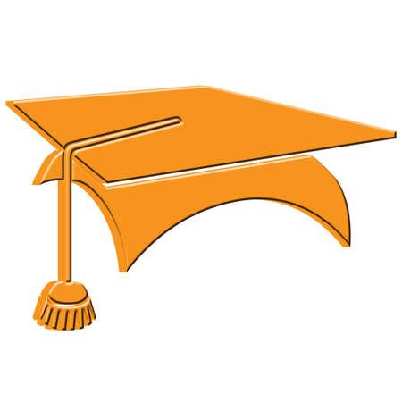 3 D の卒業の帽子アイコン
