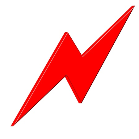 3D Lightning icon photo