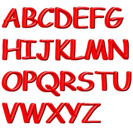 artistic font: 3D English alphabet