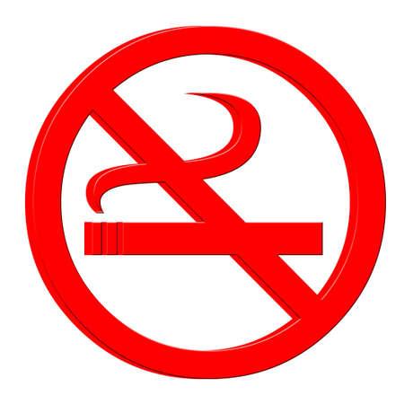 3D No smoking symbol  Stock fotó