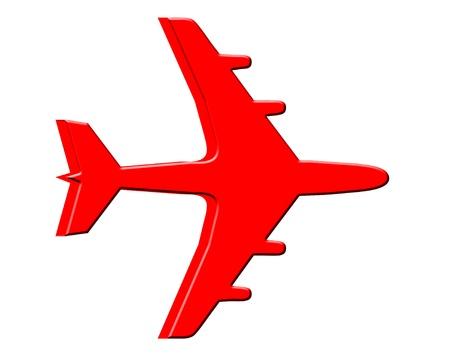 3D Jet plane Stock Photo