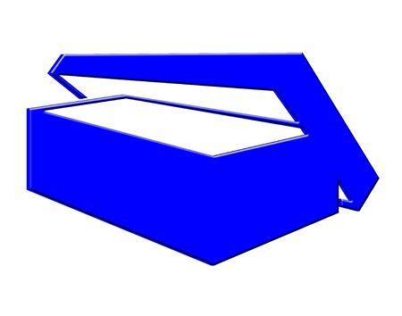 3 D のブルー ボックスのアイコン