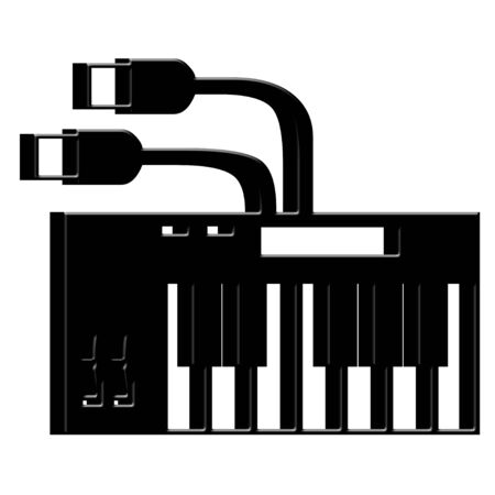 3D Electric keyboard icon photo