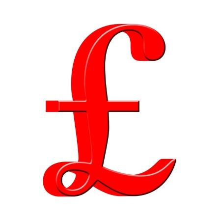 pound symbol: 3D English pound money symbol Stock Photo