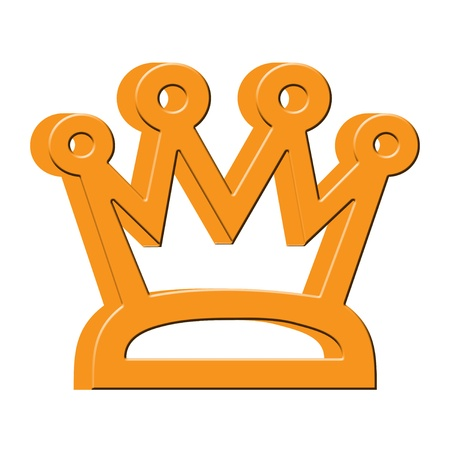 3D Gold crown icon