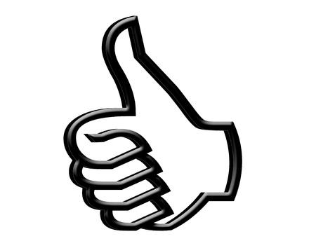 3 D Thumb up symbol Stock Photo - 17313435