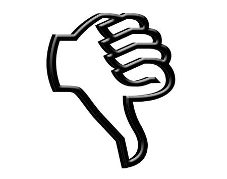 3D Thumb down symbol