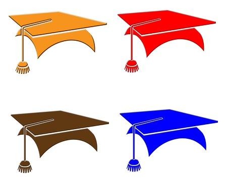 Colored graduation hats