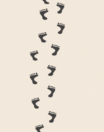 footprints sand: Footprints in sand