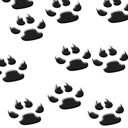 artistic designed: Dog footprints Stock Photo