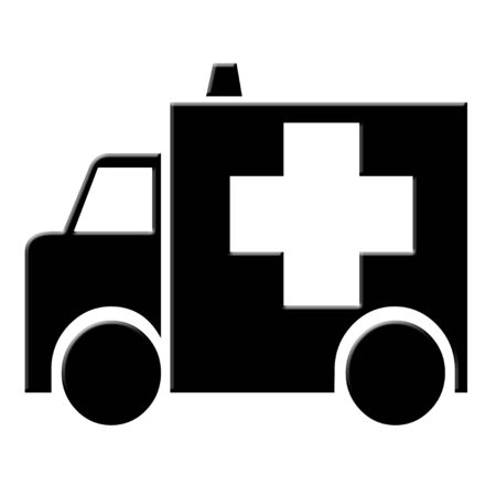 Black ambulance icon