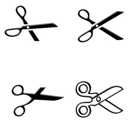 scissors icon: Black scissors icon