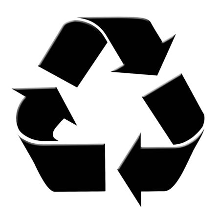 Black recycle arrows Stock fotó