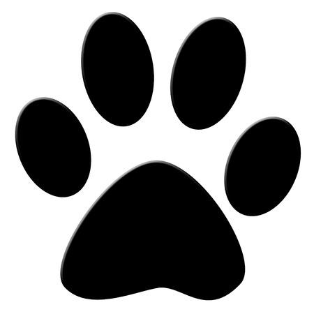 cat paw: Cat print icon Stock Photo