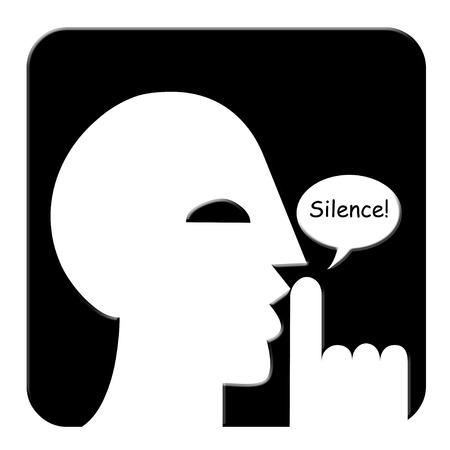 Silence illustratie Stockfoto