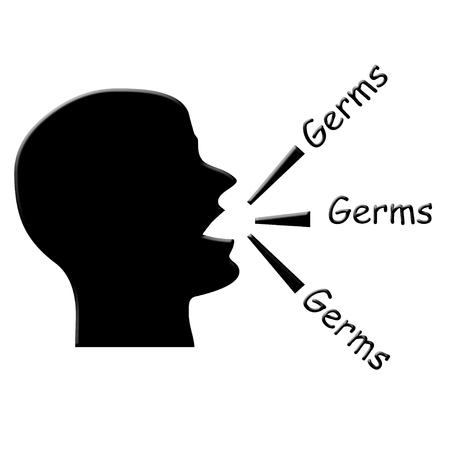 tosiendo: Hombre ilustración tos