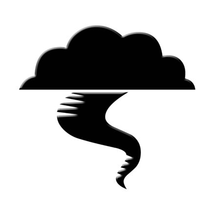 Tornado icon on white background