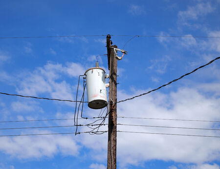 Electrical pole and blue sky