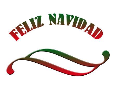 Feliz Navidad text and ornament Stock Photo