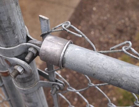 Galvanize chain link fence top rail and end cap illustration photo
