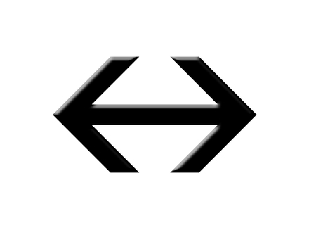 pointed arrows: Right and  left pointed black arrow illustration