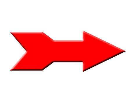 Fat red arrow right illustration