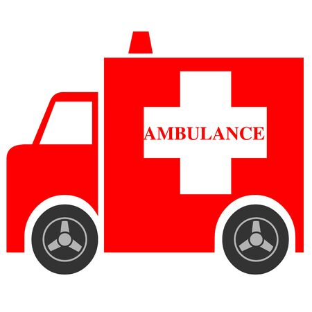 Red ambulance icon