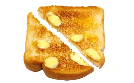 buttered: Buttered toast photo