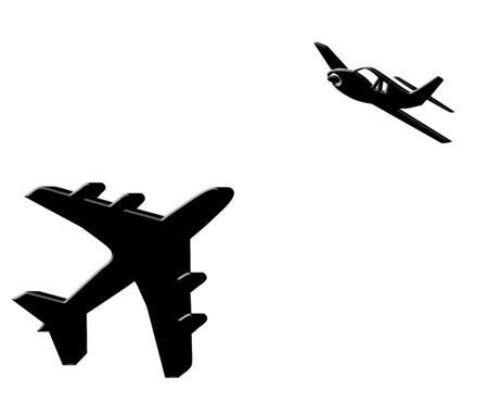Black 3D planes illustration