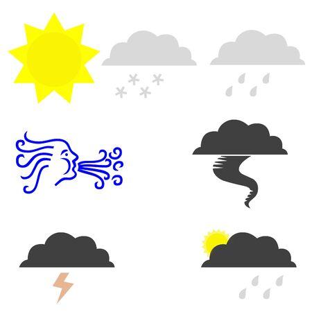 Weather icons on white Reklamní fotografie