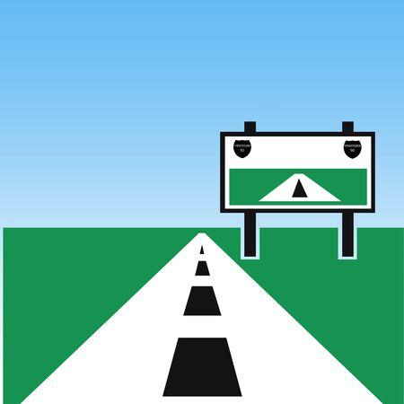 Interstate highway illustration