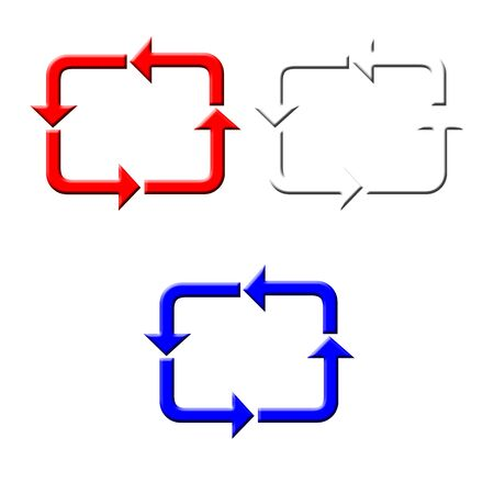 Red white and blue curved recycle arrows illustration Stock fotó