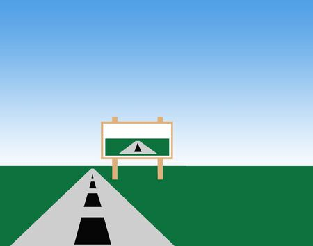 rout: Highway and billboard illustration