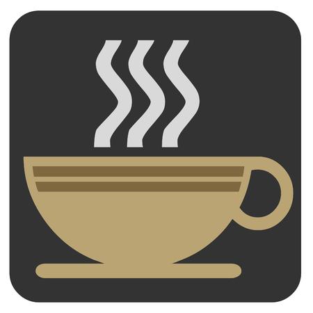 黒いアイコンを蒸しコーヒー