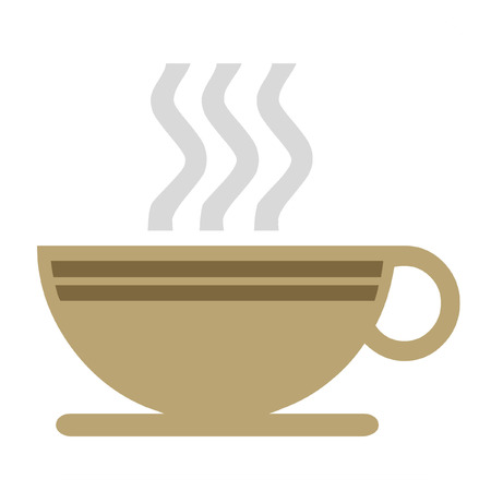 steaming: Steaming coffee icon  on white background