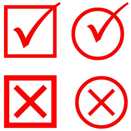 voting: Red voting icons on white background