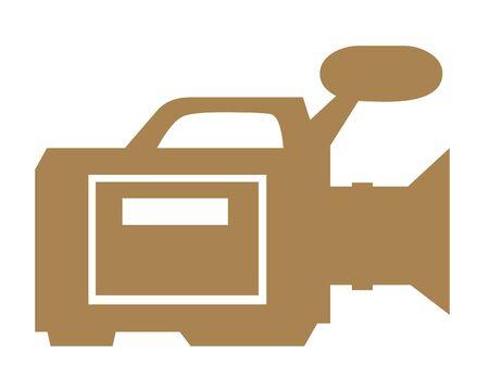 Video-pictogram op een witte achtergrond Stockfoto