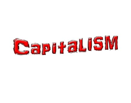 3 D Capitalism text on white background