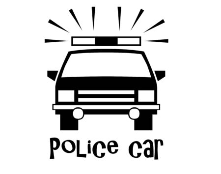 Police car and text illustration Stock fotó
