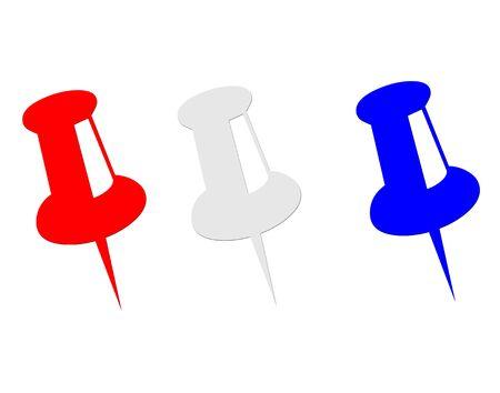 赤白と青の親指鋲アイコン