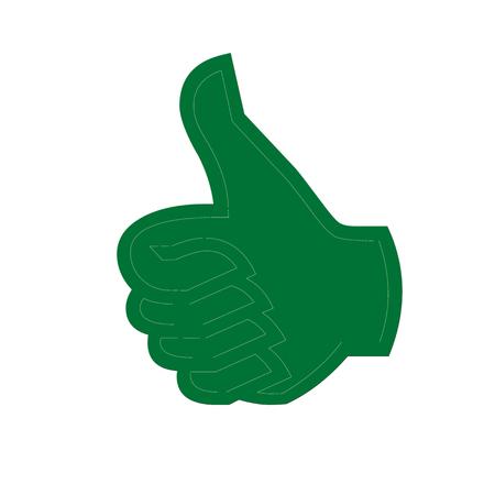 アイコンを緑の親指