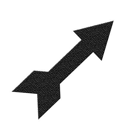 Black snakeskin textured arrow icon